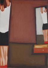 <h5>Jerzy Nowosielski, Gimnastyczka, 1950, 54,5 x 38 cm, olej, płótno, Hiszpania, Fot.: Erazm Ciołek</h5>
