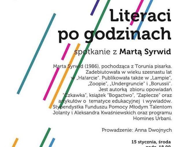 Literaci po godzinach - plakat