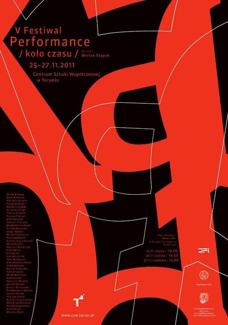 plakat 5. Festiwalu Performance Koło Czasu