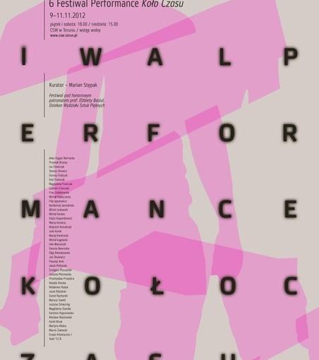 plakat 6. Festiwalu Performance Koło Czasu