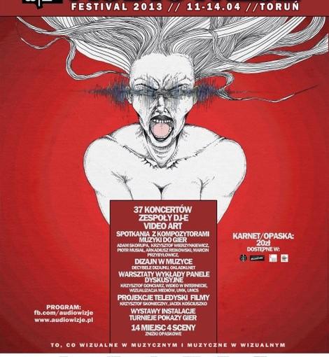 Audiowizje 2013 - plakat