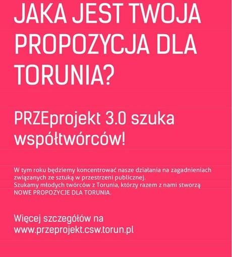 Plakat akcji PRZEprojekt 3.0 szuka współtwórców