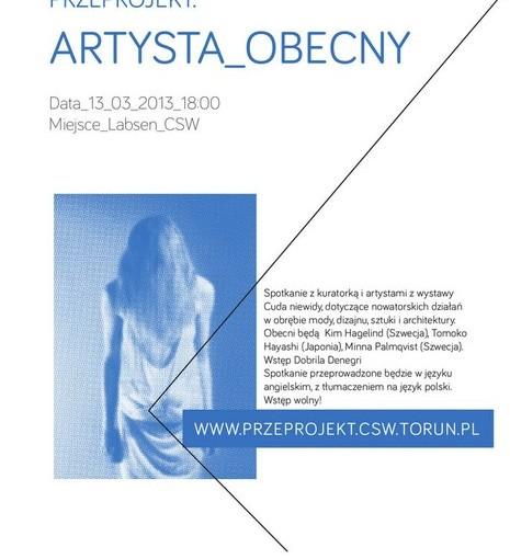 Plakat wydarzenia Artysta obecny 0.2