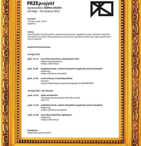 Plakat wystawy Ładna sztuka