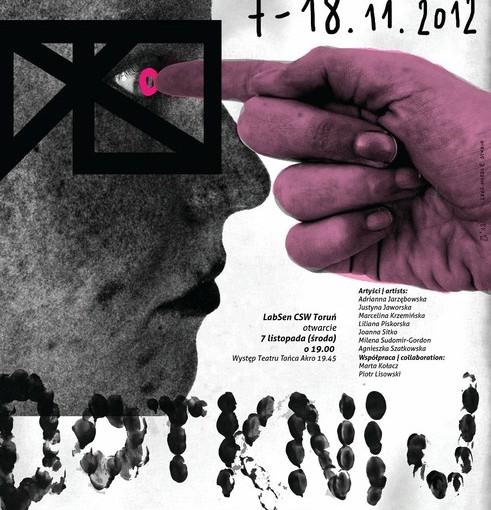 Plakat wystawy Dotknij proszę