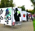 zdjęcie z wystawy plenerowej w Mińsku