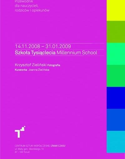 Okładka Przewodnik dla opiekunów po wystawie Millennium School
