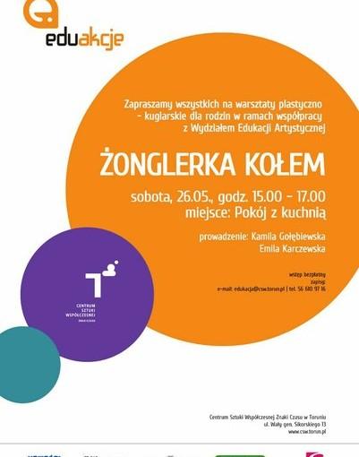 Plakat żonglerka kołem