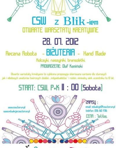 Plakat CSW z BLIKIEM