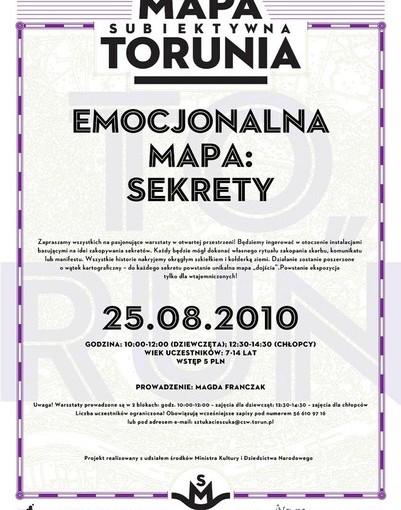 Plakat EMocjonalna Mapa