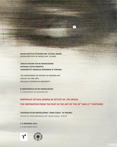 plakat IV Konferencja Sztuki Nowoczesnej