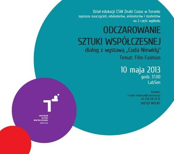"""plakat do wydarzenia """"Odczarowanie sztuki współczesnej"""""""