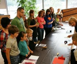 Zdjęcie z warsztatów edukacyjnych w CSW