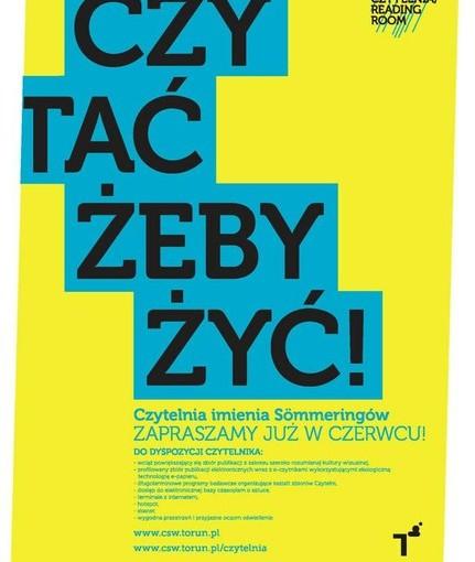 Plakat promujący otwarcie