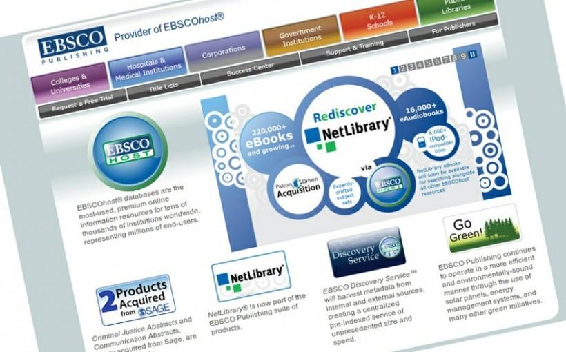 EBSCO - zrzut ekranu