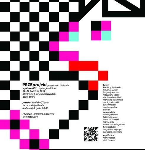 plakat PRZEprojekt - Wystawa Przestrzeń działania