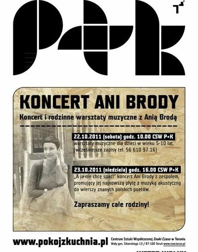 Plakat Ania Broda koncert