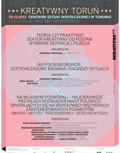 Plakat Konferencja Kreatywny Toruń