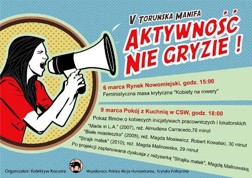 Plakat V Toruńska Manifa