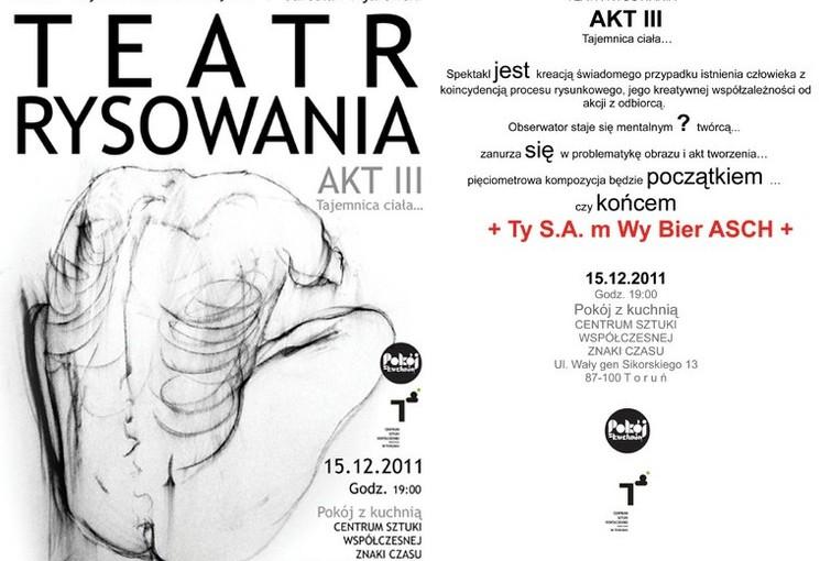 Plakat Teatr Rysowania