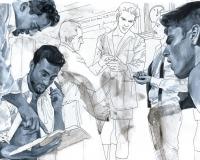 Łukasz Biliński, for Dolce & Gabbana, technika mieszana na papierze. Dzięki uprzejmości artysty.