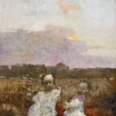 Obraz 2000 / Łagów Grzeszne wspomnienie / Painting 2000 / Łagów Sinful Memory, 1996, olej na płycie pilśniowej / oil on fibreboard, 80 × 61 cm