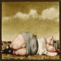 Józefowi Chełmońskiemu / Replika / For Józef Chełmoński / Replica, 1979, olej na płycie pilśniowej / oil on fibreboard, 18 × 18 cm