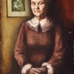 Portret Mamy / Portrait of Mom, 1968, olej na płótnie / oil on canvas, 42 × 65,5 cm