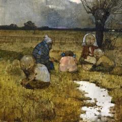 Obraz 2049 (Załęcze – moje kochania) / Painting 2049 (Załęcze – My Darlings), 1996, olej na płycie pilśniowej / oil on fibreboard, 70 × 100 cm