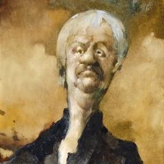 Obraz 1556 / Autoportret / Painting 1556 / Self-Portrait, 1993, olej na płycie pilśniowej / oil on fibreboard, 50,5 × 60,5 cm