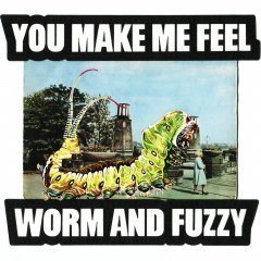 You make me feel worm and fuzzy