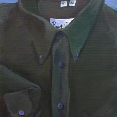 Grzegorz Kozera, Koszula (z cyklu Koszule), 2009, olej na płótnie, 46 x 33 cm
